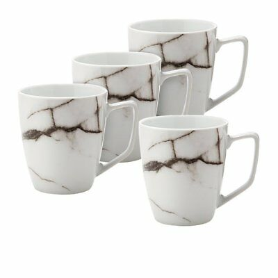 NEW Salt & Pepper Marble Mug Set of 4 (RRP $30)
