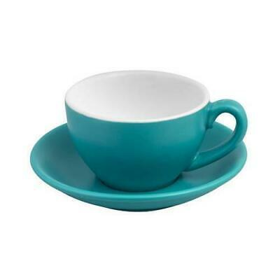 6x Cappuccino Cup & Saucer Set Aqua 200mL Bevande Coffee Cups Tea Cafe