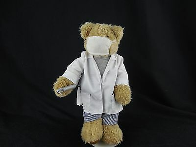 HANDMADE Teddy Bear Dressed as a DENTIST with Stand Plush