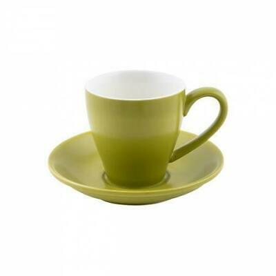 36x Coffee Cup & Saucer Bamboo Green 200mL Bevande Cono Tea Hot Chocolate Cups
