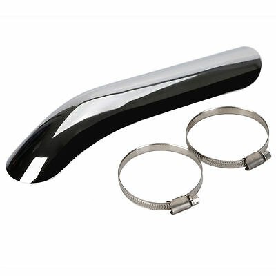 Universal Chrome Heat Shield Cover Exhaust Muffler Pipe Heel Guard for Harley