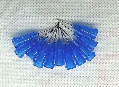 "50pcs 1/2"" 22Ga Dispensing Needle Tip For Liquid Dispenser Adhesive Glue 0.5"""