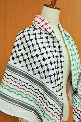 Original Palestinian Product Authentic Arab Scarf Shemagh Hirbawi Flag Kufiya