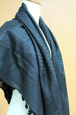 Original Palestinian Product Authentic Arab Scarf Shemagh Hirbawi Black Kufiya