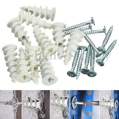 Plasterboard Cavity Wall Nylon Fixings Plugs Speed Anchors With F/G Type Screws