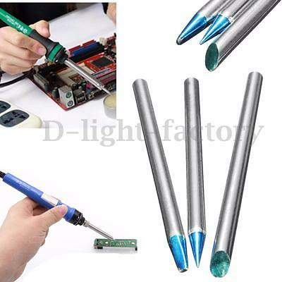 3pcs 40W Replaceable Electric Solder Soldering Iron Tips 65mm Long 4mm Shank Dia