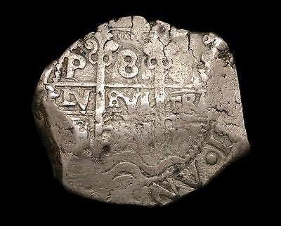 Spain, Philip V 8 Reales 1736 Cob Coin