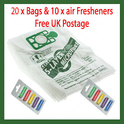 20 Bags For Numatic Henry Hetty James Vacuum Cleaner Hoover Bags 10 x fresheners