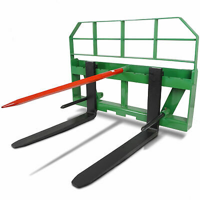 "Titan 36"" Pallet Fork Attachment HD 49"" Hay Bale Spear fits John Deere Global"