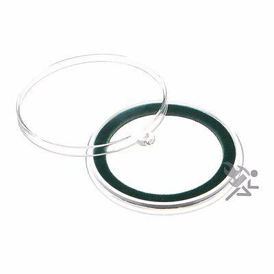 Air-Tite 39mm Green Velour Ring Coin Capsule Holders with Loop Holders, 5 Pack