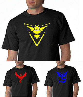 Pokemon Go Team Mystic Team Instinct Team Valor Funny Nerd Pokeball S-5XL!