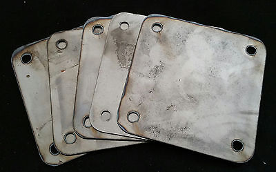 Lot of 10 - 4 x 4 inch Square flange plate plates custom steel mounting cover
