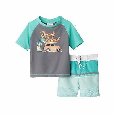 Carter/'s Infant Boys 2pc Rashguard Swim Short Set Size 12M 18M 24M