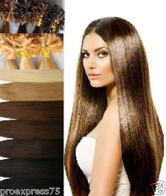 50 100 150 Extensions A Chaud A Keratine 100% Naturels Remy Hair 60Cm  0,6G 1G