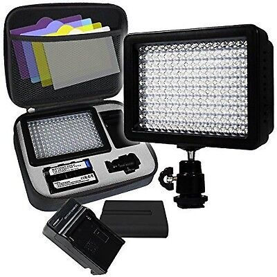 LimoStudio 160 LED Video Light Lamp Panel Dimmable for DSLR Camera DV Cam... New