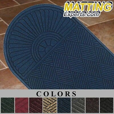 Entrance Runner Water Absorbing Carpet Like One End Half Oval Diamond Mat H01