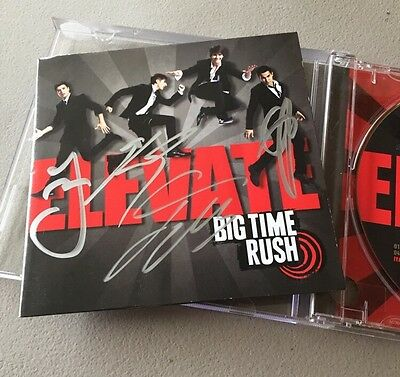 RARE! Elevate by BIG TIME RUSH Autographed Signed CD SWEET by all!