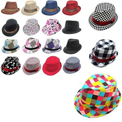 2016 Fashion Jazz Toddler Boy Girl Cap Cool Photography Fedora Hat For Children