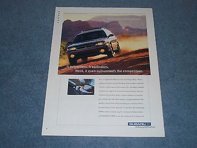 """1997 Subaru Outback Limited Vintage Ad """"It Even Outsunroofs the Competition"""""""