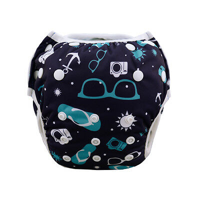 AlvaBaby Swimming Pool Pant Diaper Washable Reusable Breathable10-40lbs for boys