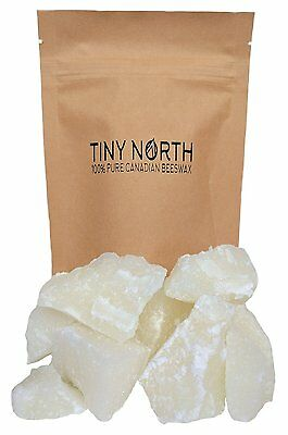 100% Pure Canadian Beeswax Cosmetic Grade by Tiny North White Beeswax-White CXX