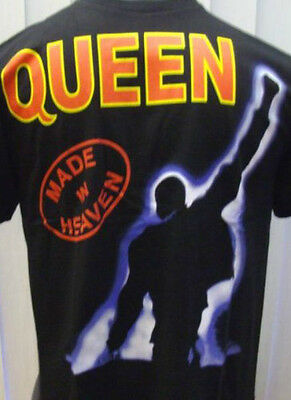 Queen -  Made In Heaven - Black Rock Band T-Shirts 100% Cotton