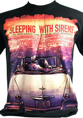 Sleeping With Sirens - Black T-Shirts 100% Cotton