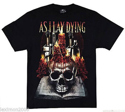 As I Lay Dying -  Rock Band Round Neck T-Shirts 100% Cotton