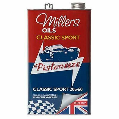 Millers Oils Classic Sport 20W60 Semi-Synthetic Engine Oil - 5 Litre