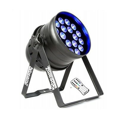 BEAMZ BPP205 LED PAR64 18x15W PENTA IR DMX PAR LED 64 RGBAW EFFETTO LED DISCO