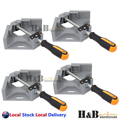 4 Pcs 90° Corner Clamp Welding Vice Picture Frame Woodworking Alloy Body T0228