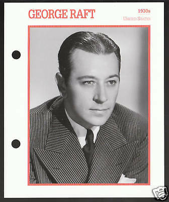 GEORGE RAFT Atlas Movie Star Picture Biography CARD