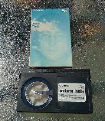 John Lennon Imagine Beta Video Tape Hi-Fi Stereo 1971/86 55 mins. NTSC RARE!!!