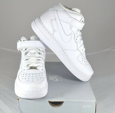 Nike Air Force 1 Mid (Gs) 314195 113 White  Us Kids Size 3.5Y Free Shipping New