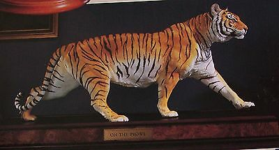 NIB FRANKLIN MINT BENGAL TIGER PORCELAIN 2 FEET NEW IN BOX Sold for $750 in 1989