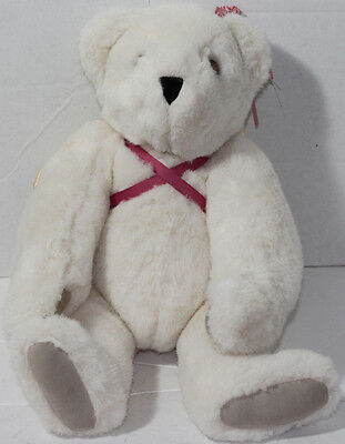 Vermont Teddy Bear Company CREAM WHITE ANGEL JOINTED Legs Arms Neck PLUSH TOY