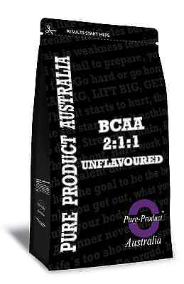 1Kg Pure Bcaa 2:1:1 Powder Unflavoured Amino Acid Pre Workout And Post Workout