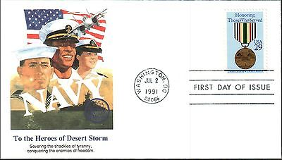NAVY- HEROES OF DESERT STORM (Scott U623) 1991, No Address, FDC *RARE*