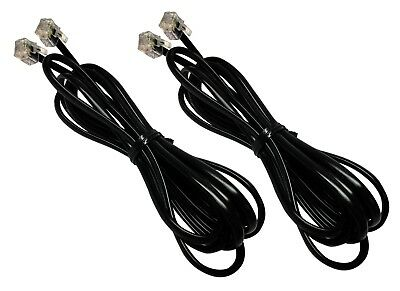 2-Pack of Home Land Line J11 Cable Cords for Fax Modem DSL Connection to Phone