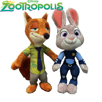 Zootropolis/ Peluches Nick Wilde Judy Hoops 28 Cm- Plush Doll Zootopia 11""