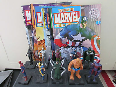 Job Lot Marvel Figurine Collection Figures And Magazines 50 In Total (4 Specials