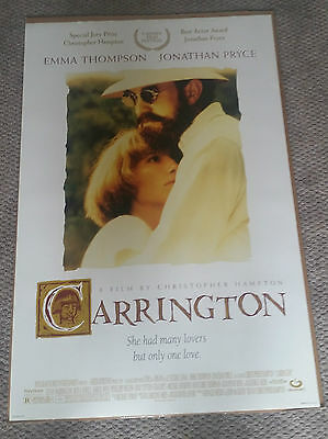 Carrington (1995) Original Movie Poster 27x40 Emma Thompson Jonathan Pryce