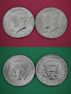 1980 P D S Kennedy Half Dollars With 2x2 Cases from Mint Sets Combined Shipping