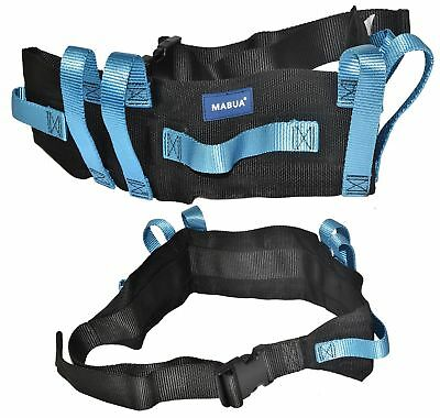 Physical Therapy Transfer & Walking Gait Belt with 7 Hand Grips & Easy Re... New