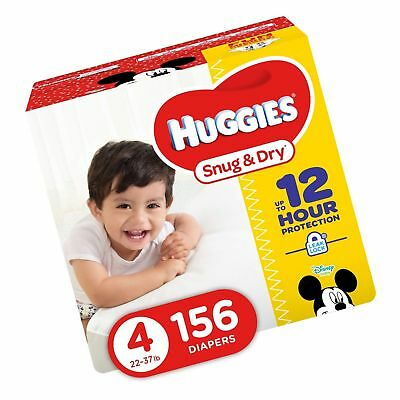 HUGGIES Snug & Dry Diapers Size 4 156 Count (Packaging May Vary)