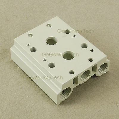 2 Rows Aluminum Pneumatic Manifold Solenoid For Air Pilot Valves 4V200 Series