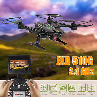 JXD 510G 6-Axis Gyro RTF RC Quadcopter Helicopter Drones 2.0MP HD Camera FPV UK