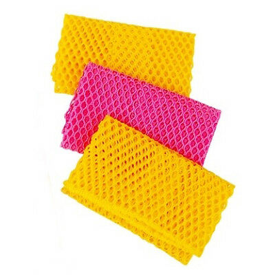 3PCS Dish Washing Net Cloths Perfect Kitchen Scrubber Cleaning Dishes Scourer