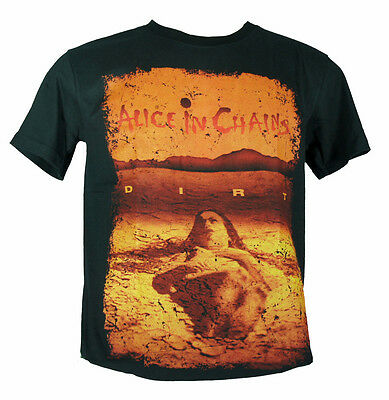 Alice In Chains -  Dirt -  Rock Band Round Neck 100% Cotton Black T-Shirts