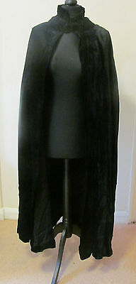 Antique/Vintage 1930s Black Silk Velvet Opera Cloak - Badley of Belfast